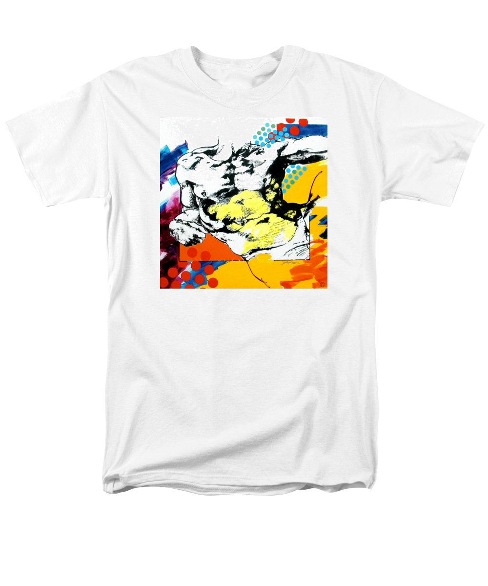 Pop Men's T-Shirt (Regular Fit) featuring the painting Adam by Jean Pierre Rousselet