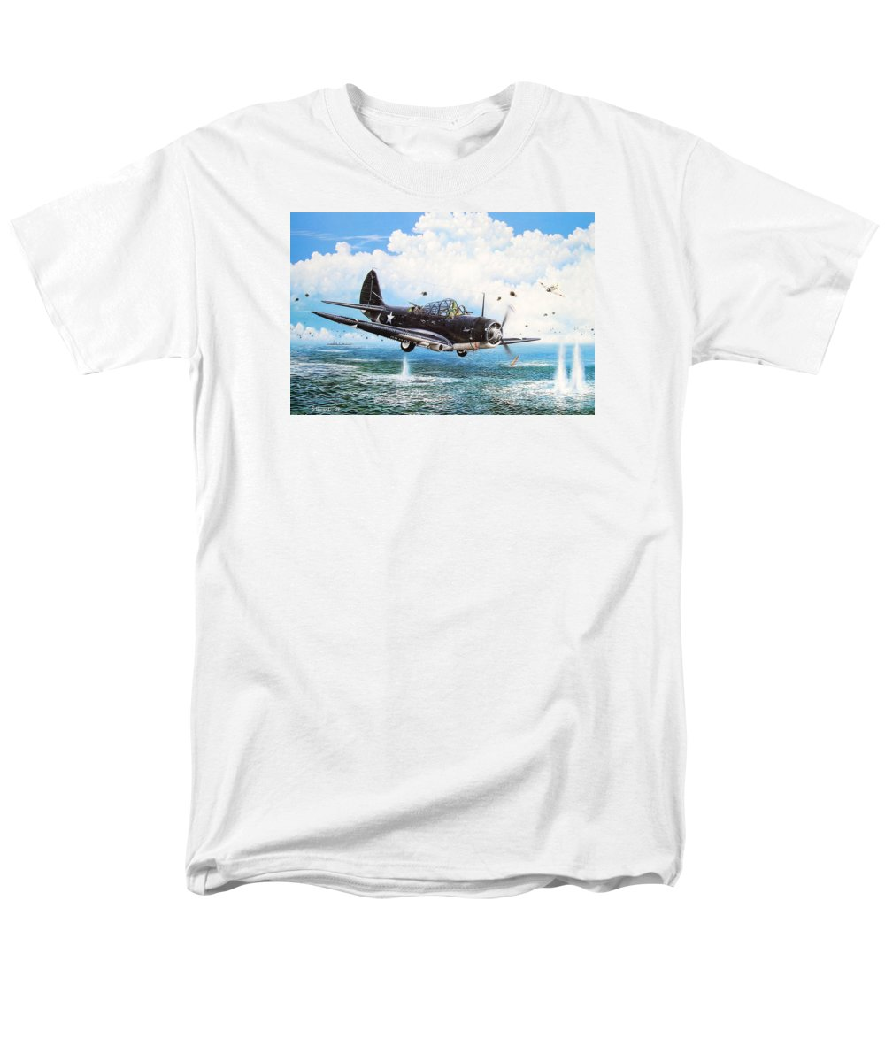 Military Men's T-Shirt (Regular Fit) featuring the painting Against The Odds by Marc Stewart