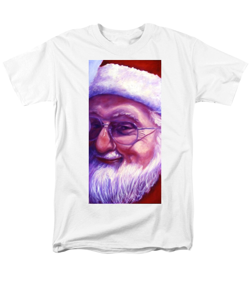 Portrait Men's T-Shirt (Regular Fit) featuring the painting Are You Sure You Have Been Nice by Shannon Grissom