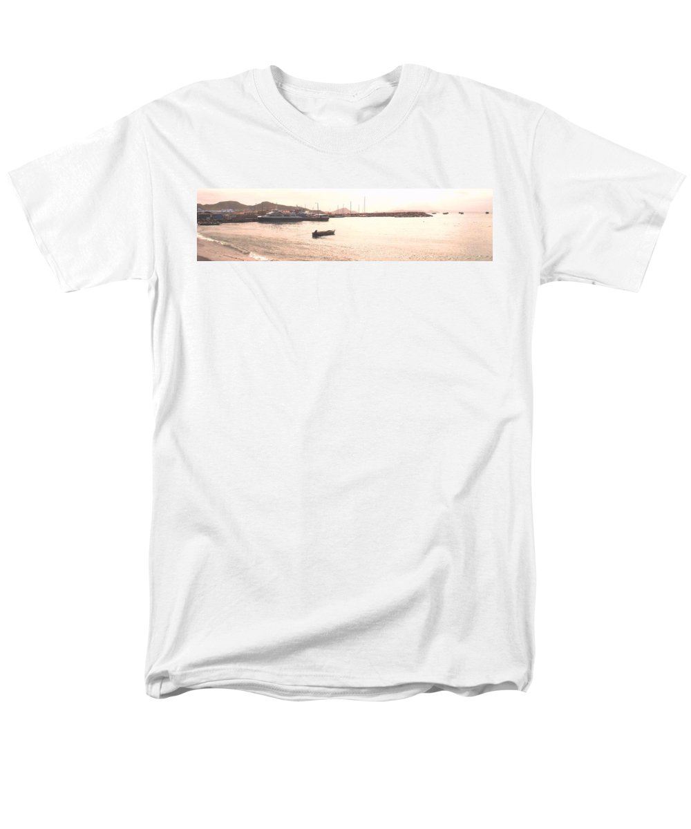 St Kitts Men's T-Shirt (Regular Fit) featuring the photograph Basseterre Harbour by Ian MacDonald