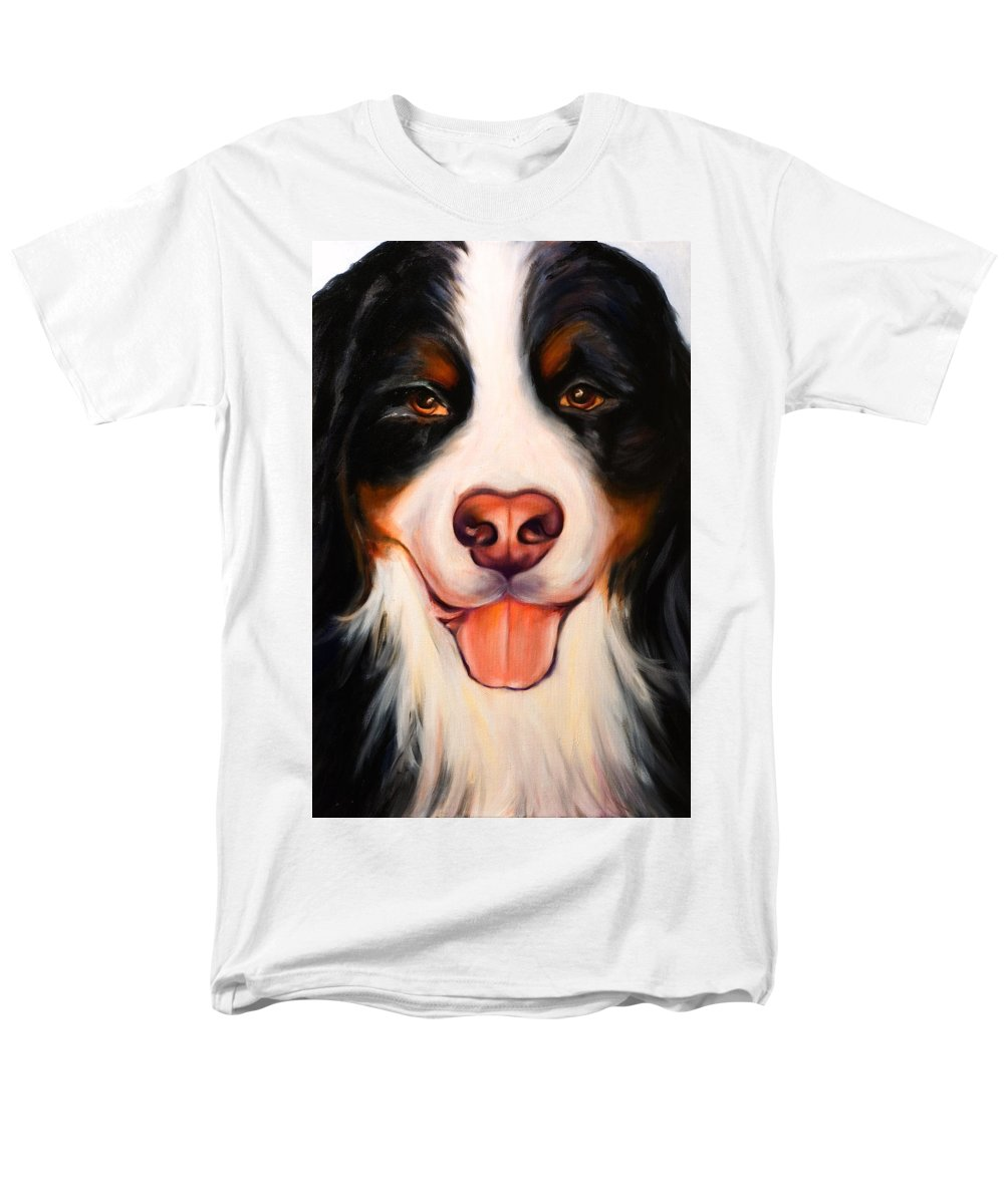 Dog Men's T-Shirt (Regular Fit) featuring the painting Big Willie by Shannon Grissom
