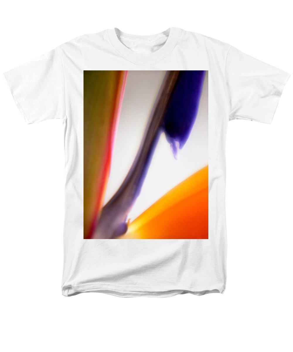 Macro Men's T-Shirt (Regular Fit) featuring the photograph Bird of Paradise by Lee Santa