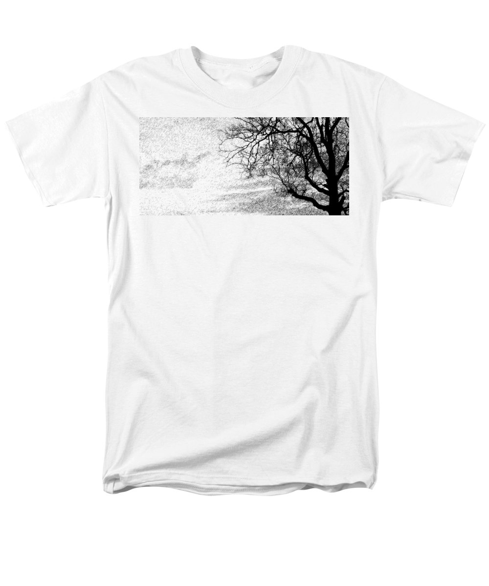 Sky Men's T-Shirt (Regular Fit) featuring the photograph Black Rain by Edward Smith