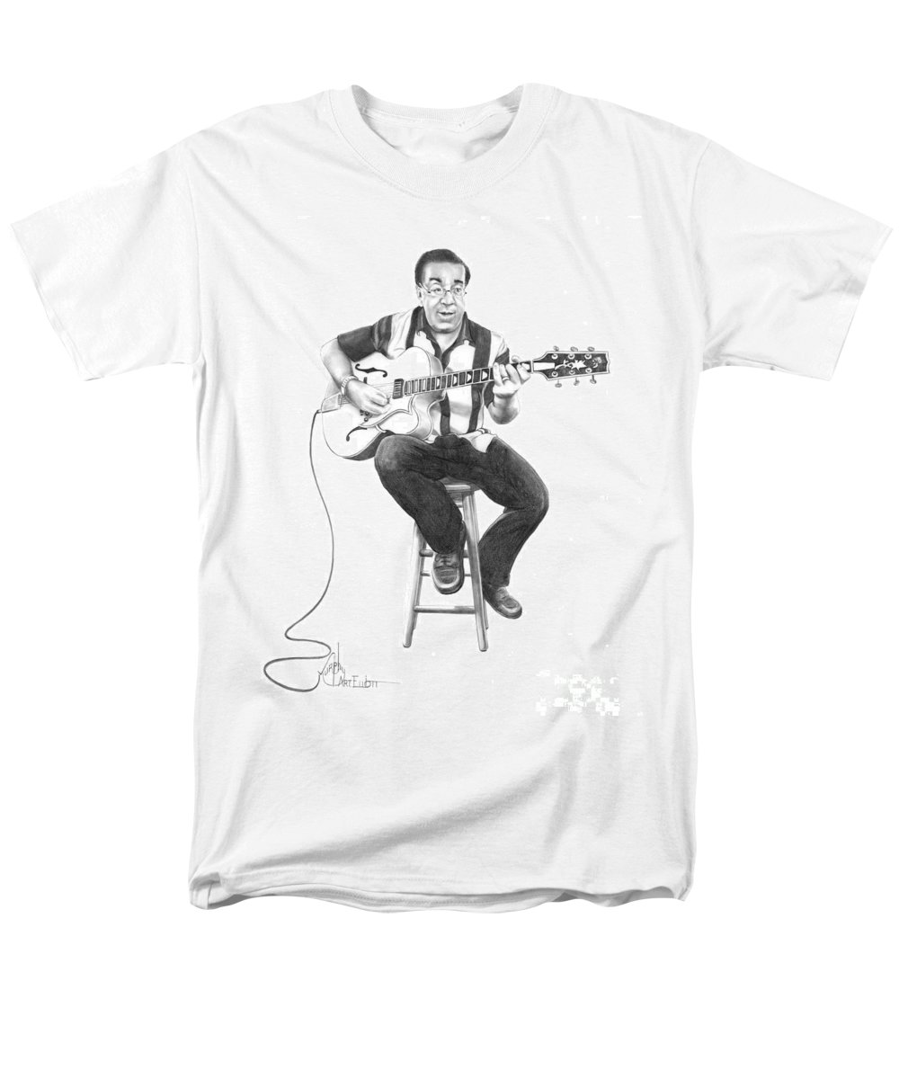 Drawing Men's T-Shirt (Regular Fit) featuring the drawing Carmine D'Amico by Murphy Elliott