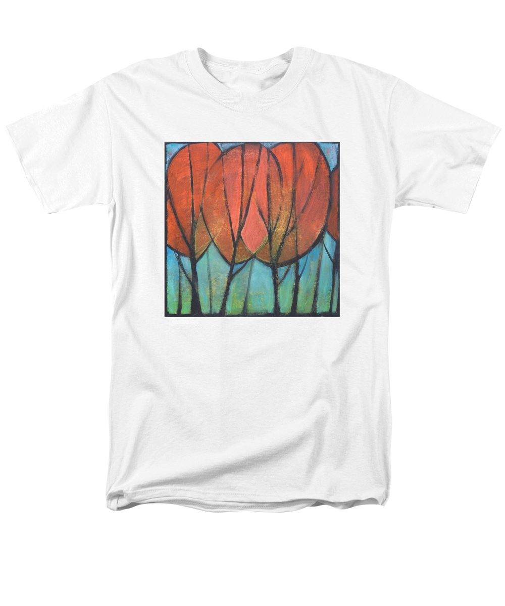 Trees Men's T-Shirt (Regular Fit) featuring the painting Cathedral by Tim Nyberg