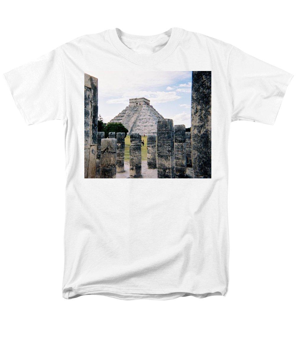 Chitchen Itza Men's T-Shirt (Regular Fit) featuring the photograph Chichen Itza 3 by Anita Burgermeister