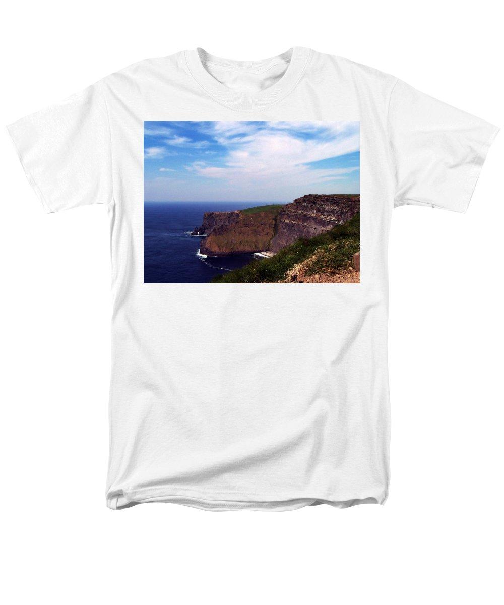 Irish Men's T-Shirt (Regular Fit) featuring the photograph Cliffs of Moher Aill Na Searrach Ireland by Teresa Mucha