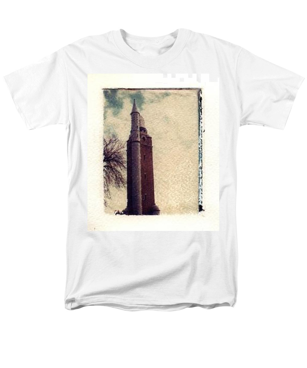 Polaroid Transfer Men's T-Shirt (Regular Fit) featuring the photograph Compton Water Tower by Jane Linders