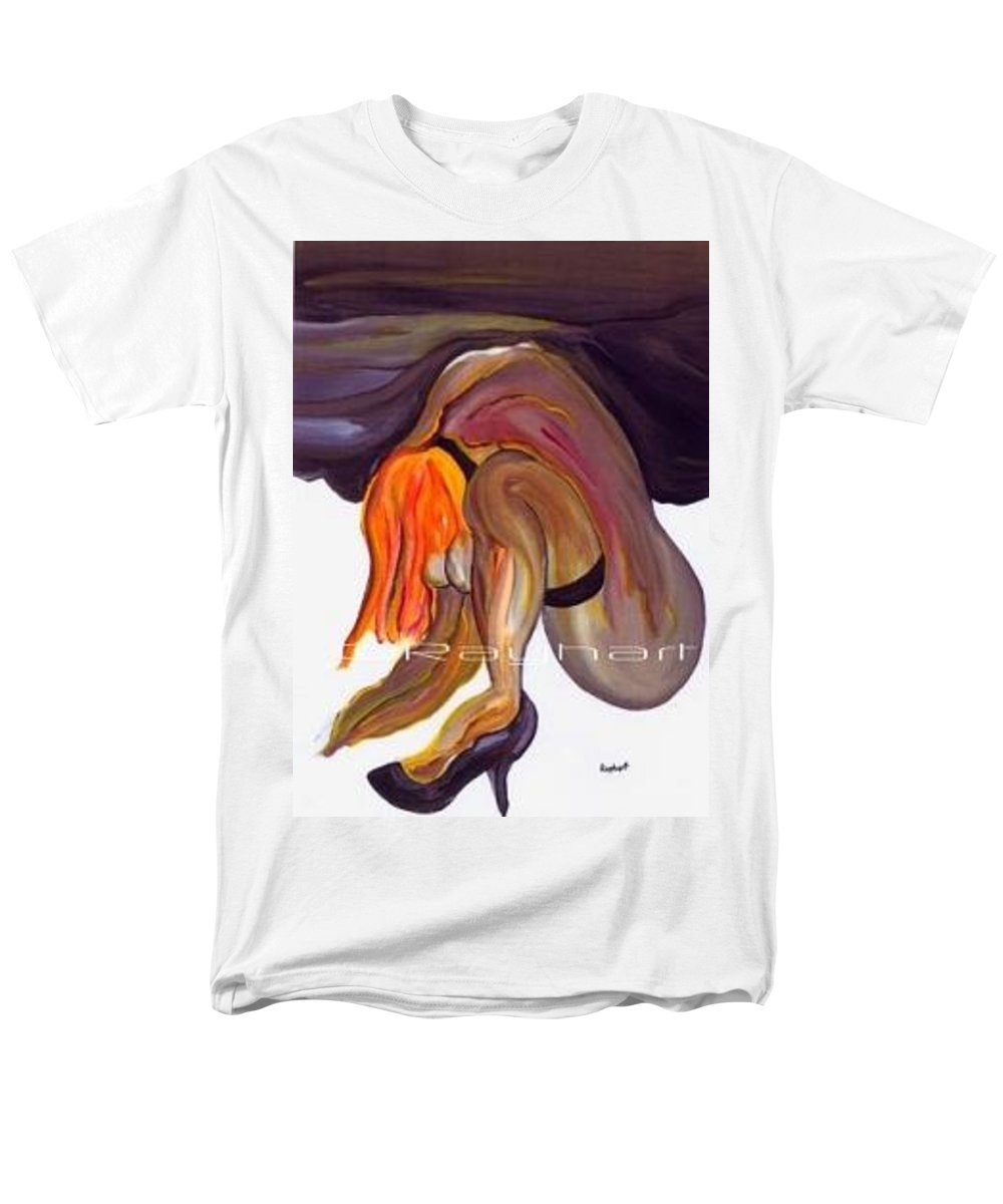 Female Abstract Men's T-Shirt (Regular Fit) featuring the painting Erotica - SOLD by Artist Rayhart