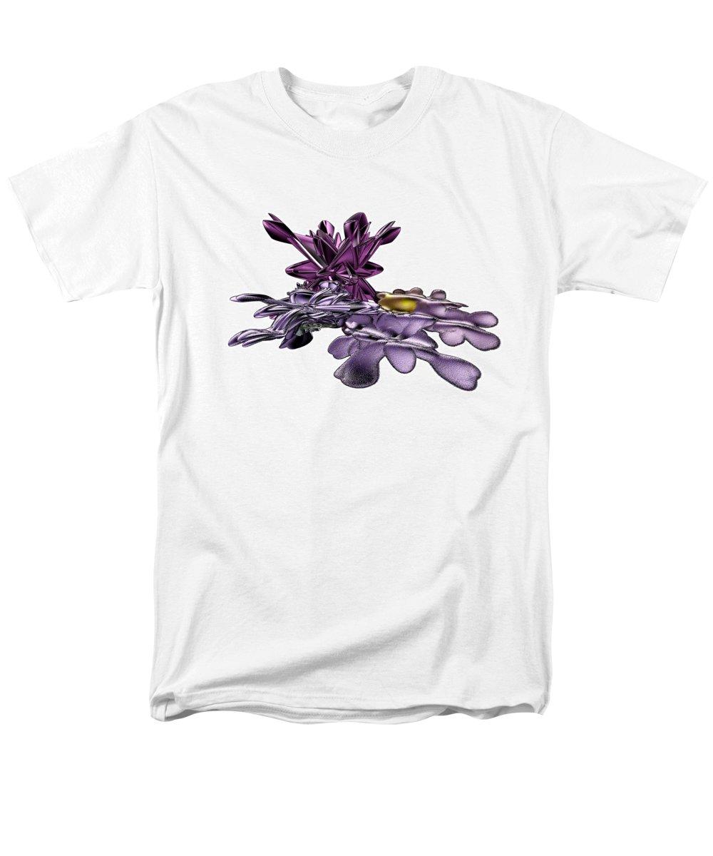 Fractal Men's T-Shirt (Regular Fit) featuring the digital art Golumphr Castle by Frederic Durville
