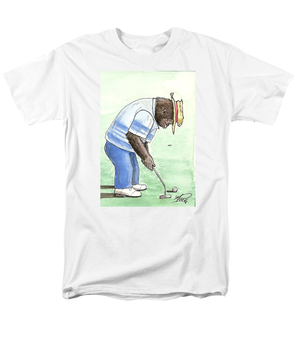 Golf Men's T-Shirt (Regular Fit) featuring the painting Got You Now by George I Perez