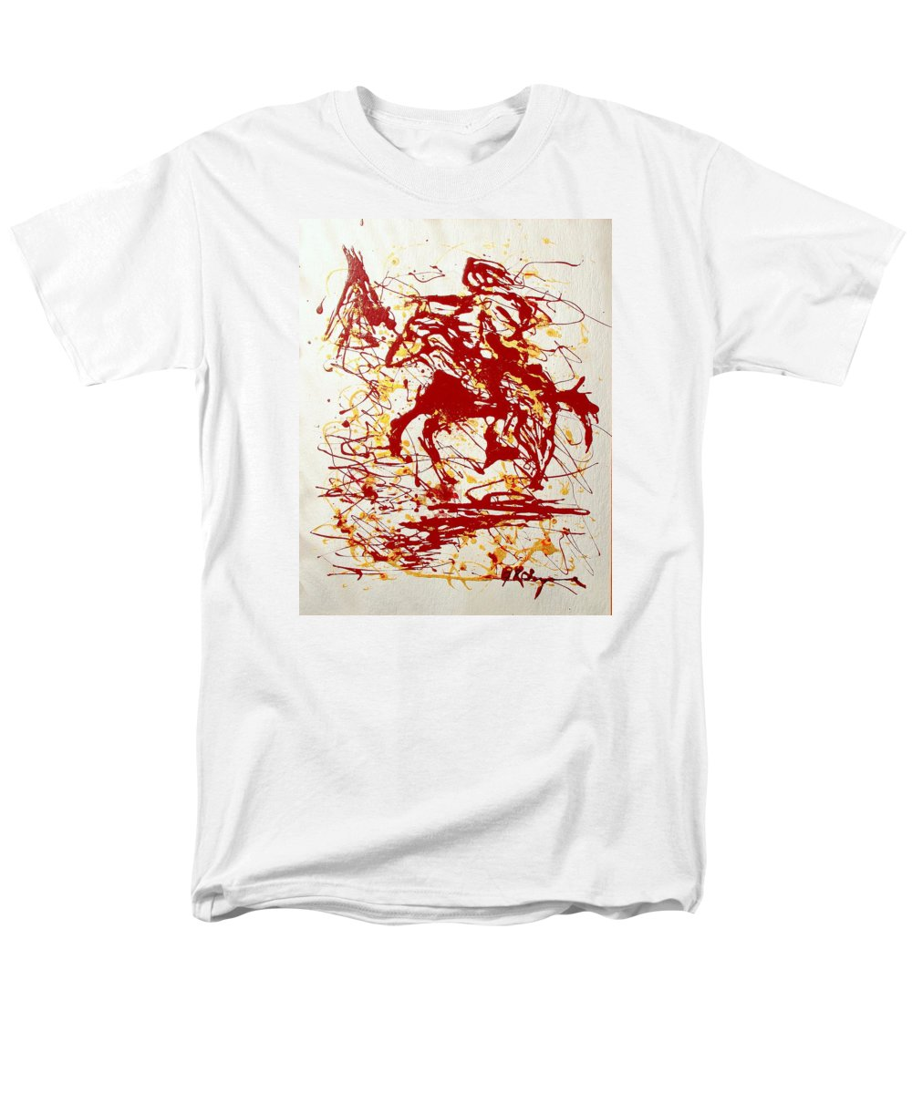 Indian Men's T-Shirt (Regular Fit) featuring the painting History In Blood by J R Seymour