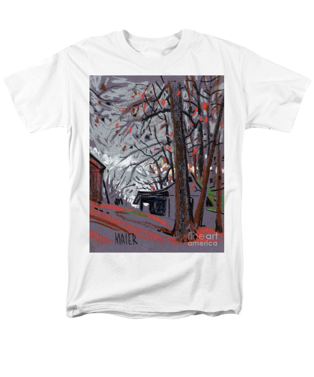 Barns Men's T-Shirt (Regular Fit) featuring the drawing James's Barns 7 by Donald Maier