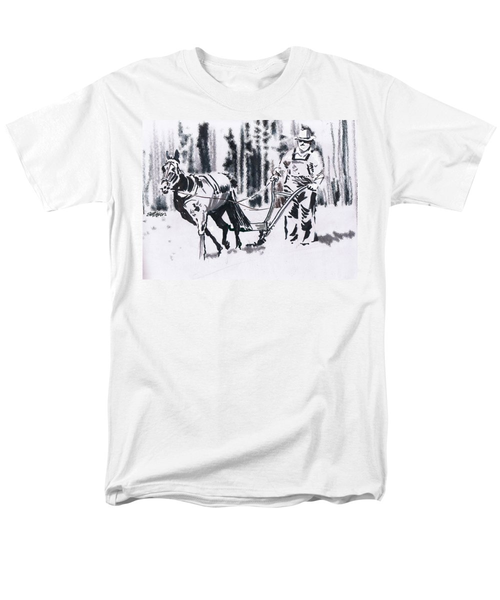 Farmer Men's T-Shirt (Regular Fit) featuring the drawing My Favorite Mule by Seth Weaver