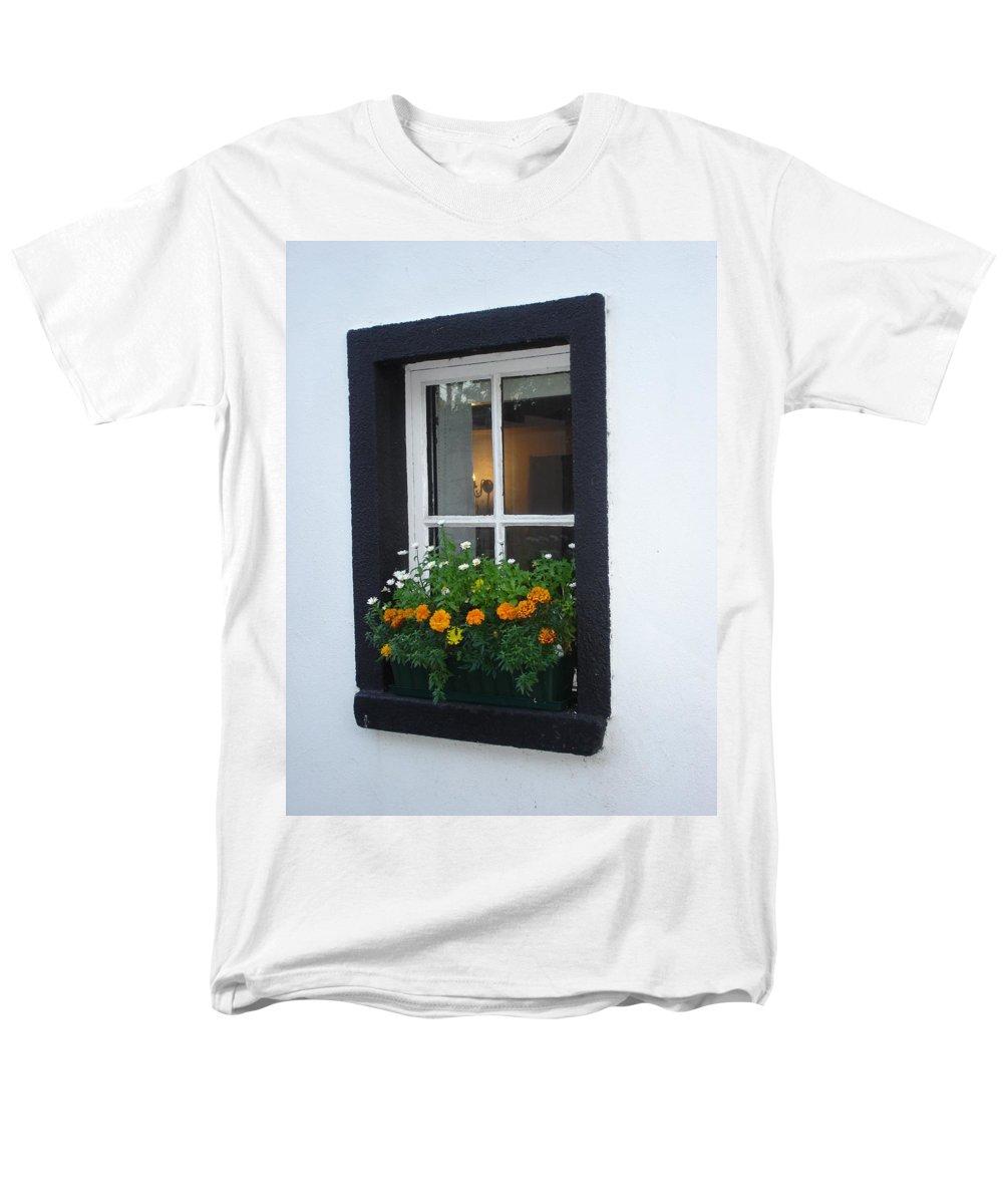 Window Men's T-Shirt (Regular Fit) featuring the photograph Neighbor by Kelly Mezzapelle