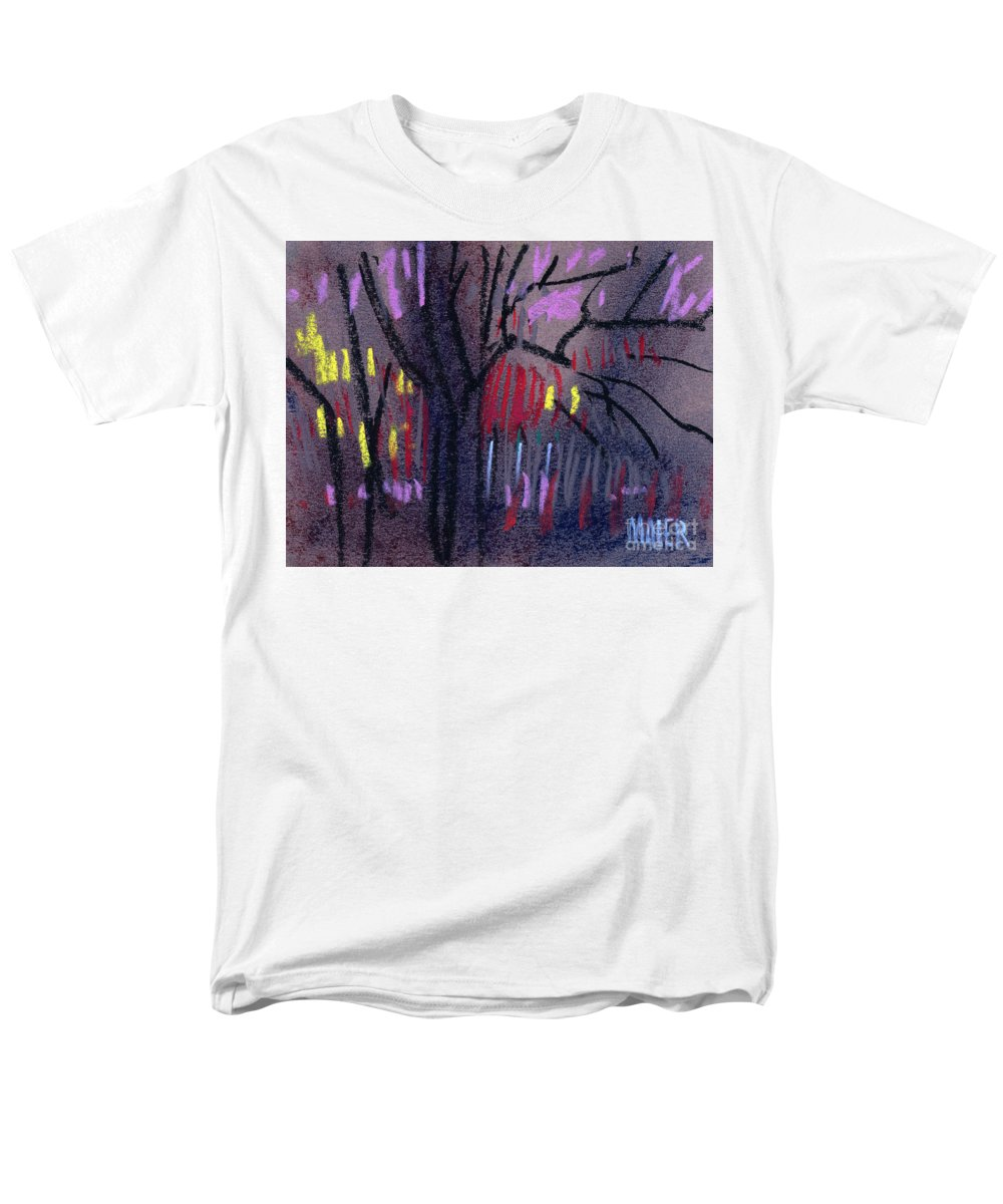 Abstract Men's T-Shirt (Regular Fit) featuring the drawing Neighbor's Lights by Donald Maier