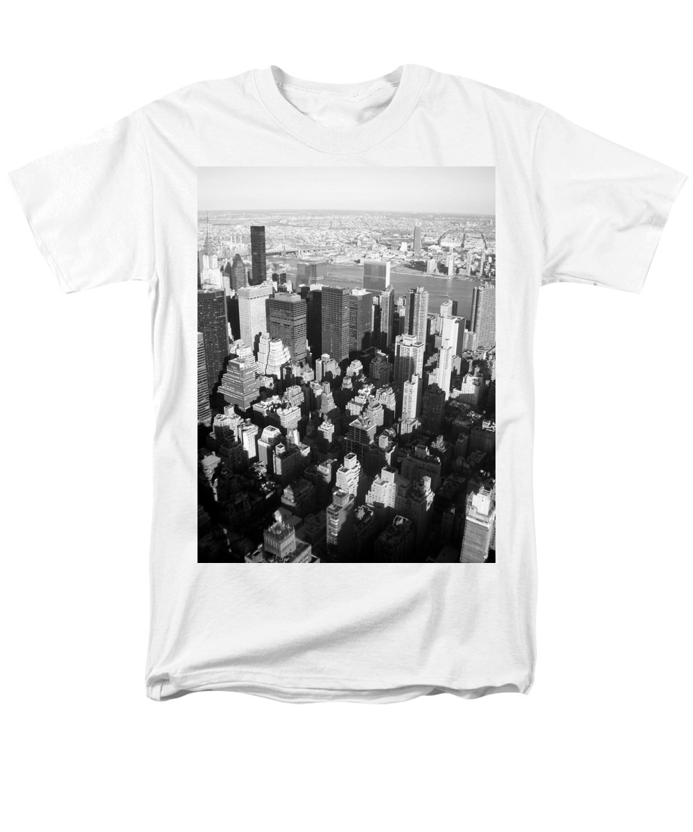 Nyc Men's T-Shirt (Regular Fit) featuring the photograph NYC bw by Anita Burgermeister