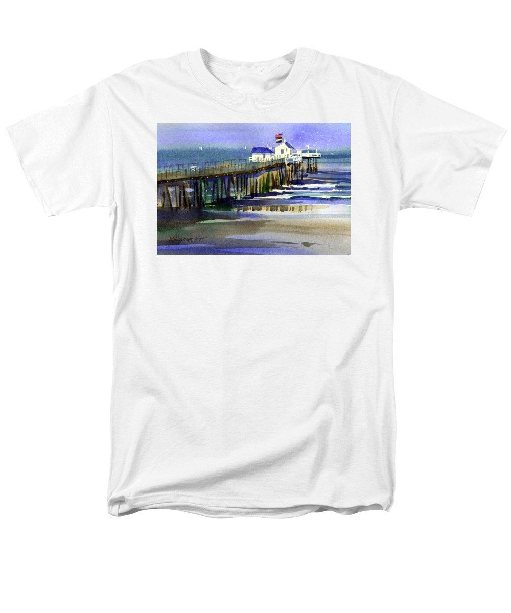Ocean Men's T-Shirt (Regular Fit) featuring the painting Ocean City Fishing Club by Lee Klingenberg