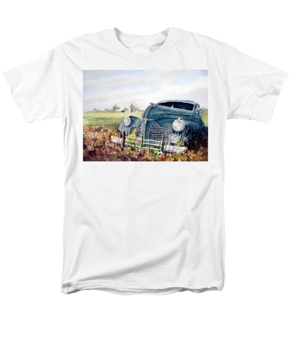 Classic Car Men's T-Shirt (Regular Fit) featuring the painting Out To Pasture by Sam Sidders