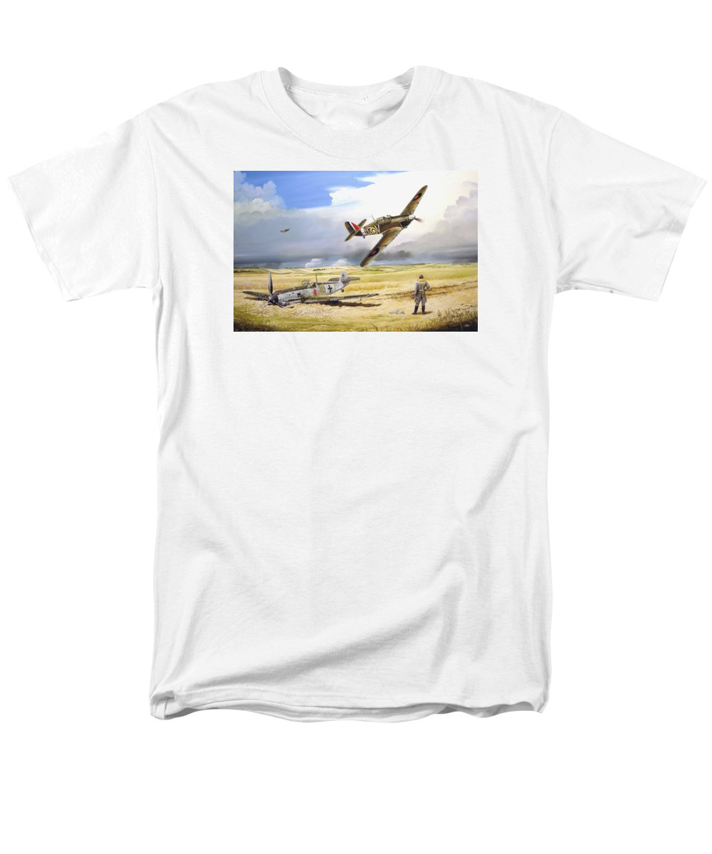 Painting Men's T-Shirt (Regular Fit) featuring the painting Outgunned by Marc Stewart