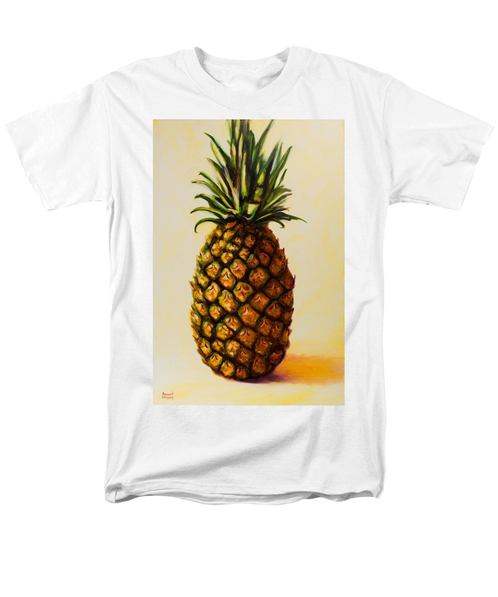 Pineapple Men's T-Shirt (Regular Fit) featuring the painting Pineapple Angel by Shannon Grissom