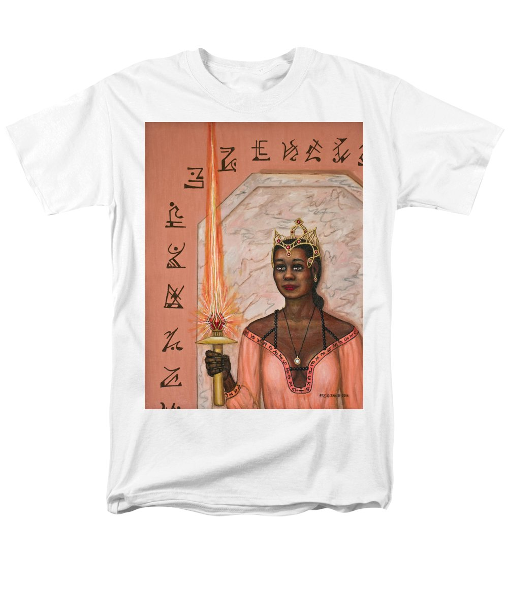 Fantasy Men's T-Shirt (Regular Fit) featuring the painting Queens New Toy by Roz Eve