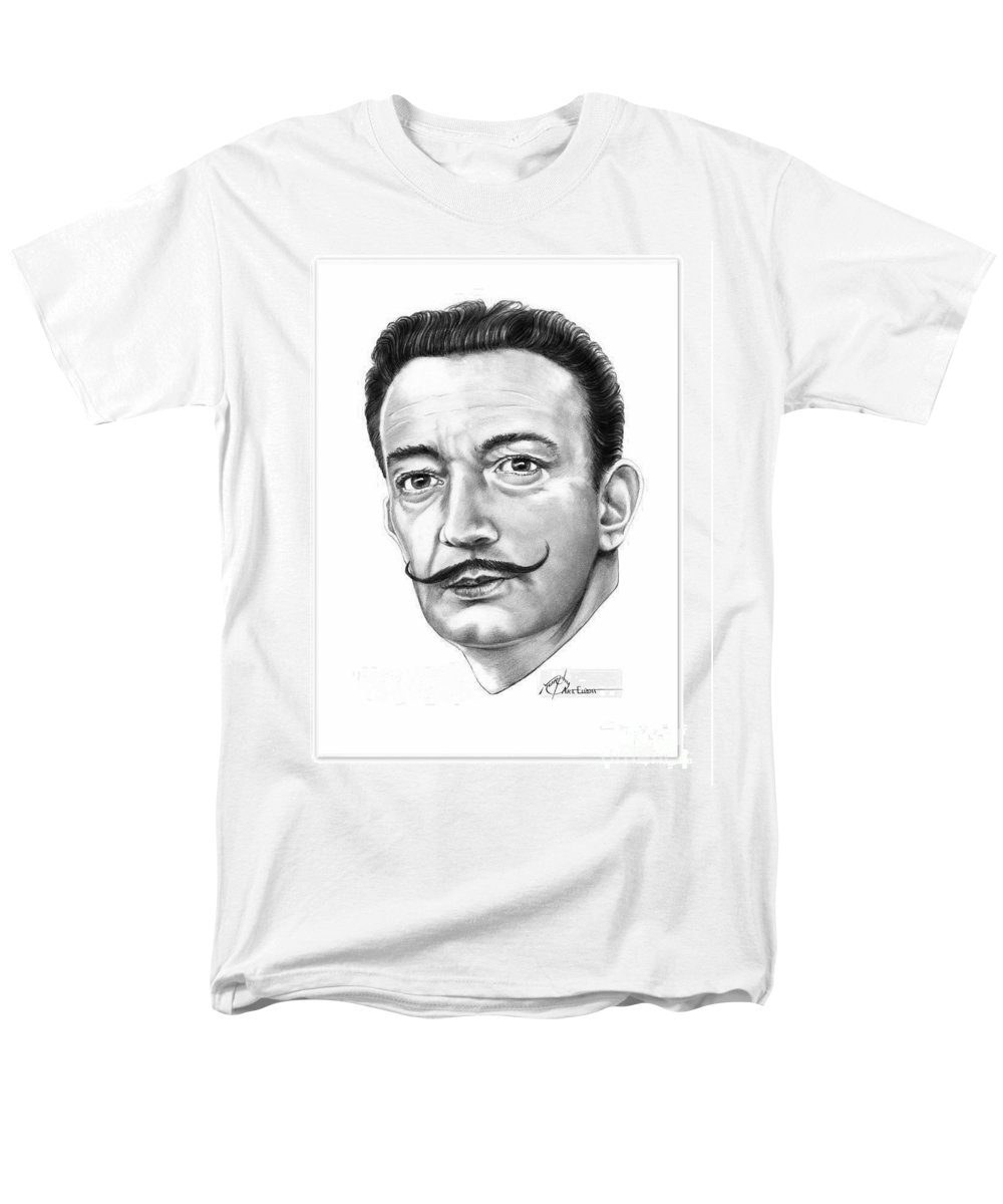 Drawing Men's T-Shirt (Regular Fit) featuring the drawing Salvador Dali by Murphy Elliott