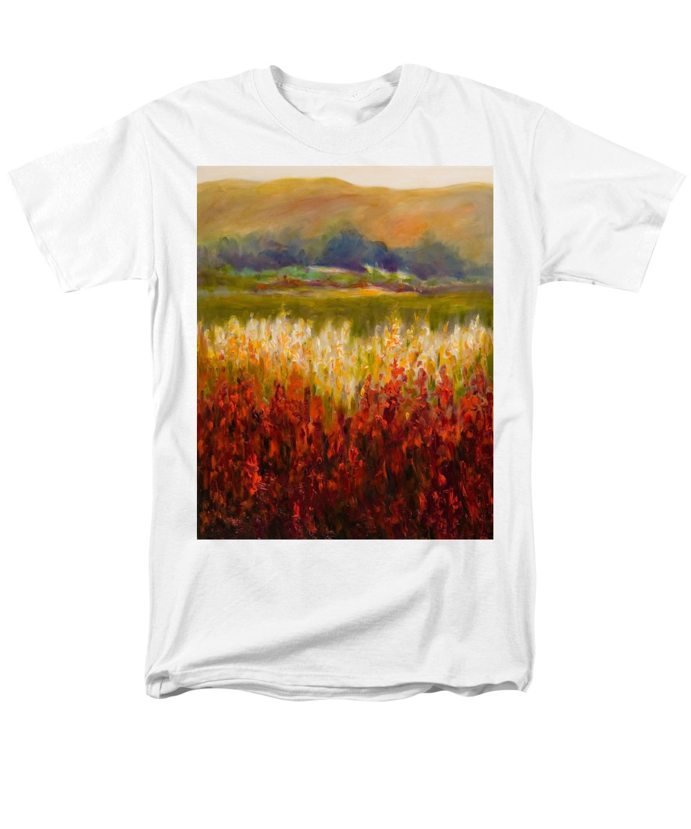 Landscape Men's T-Shirt (Regular Fit) featuring the painting Santa Rosa Valley by Shannon Grissom