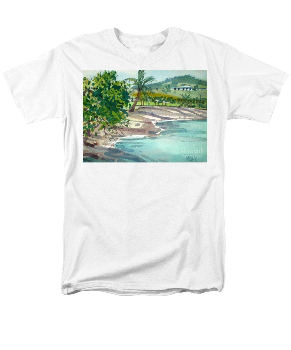 St. Croix Men's T-Shirt (Regular Fit) featuring the painting St. Croix Beach by Donald Maier