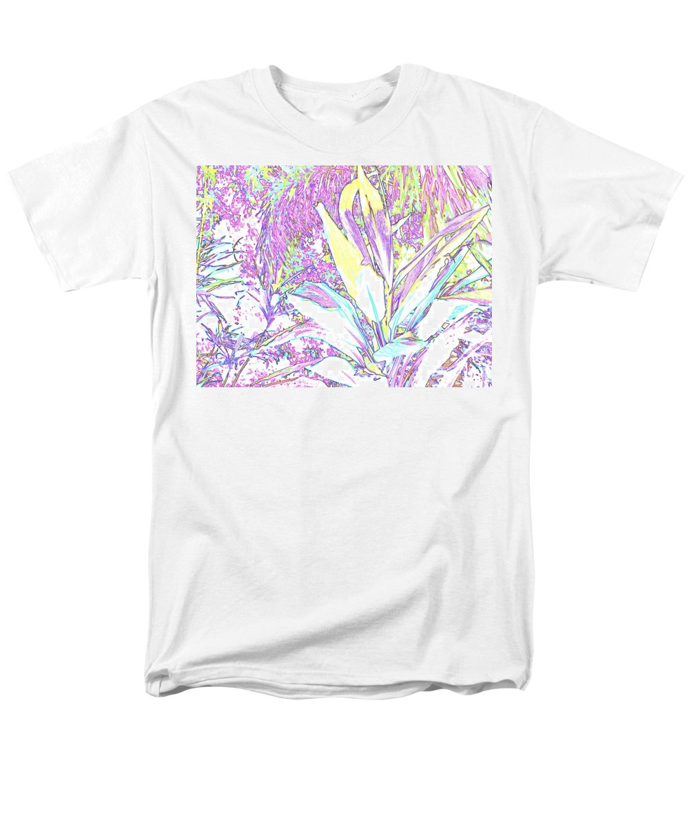 Abstract Men's T-Shirt (Regular Fit) featuring the photograph Subtle Leaf by Ian MacDonald