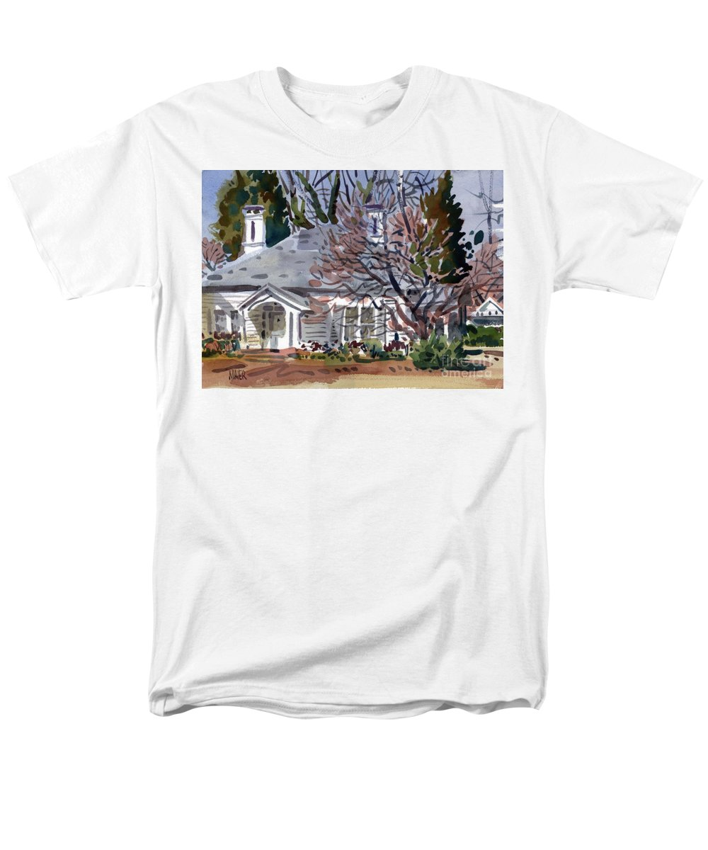 Tapp House Men's T-Shirt (Regular Fit) featuring the painting Tapp House by Donald Maier