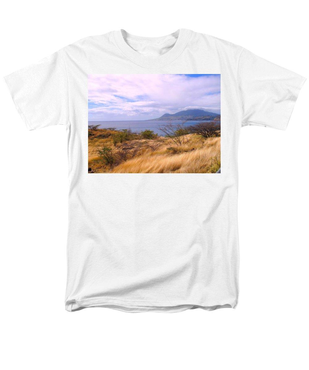St Kitts Men's T-Shirt (Regular Fit) featuring the photograph Towards Basseterre by Ian MacDonald