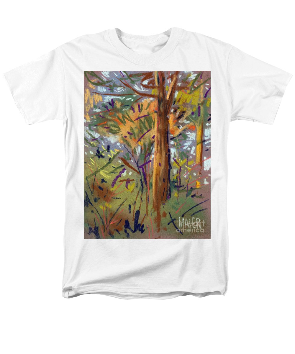 Trees Men's T-Shirt (Regular Fit) featuring the drawing Tree Sketch by Donald Maier