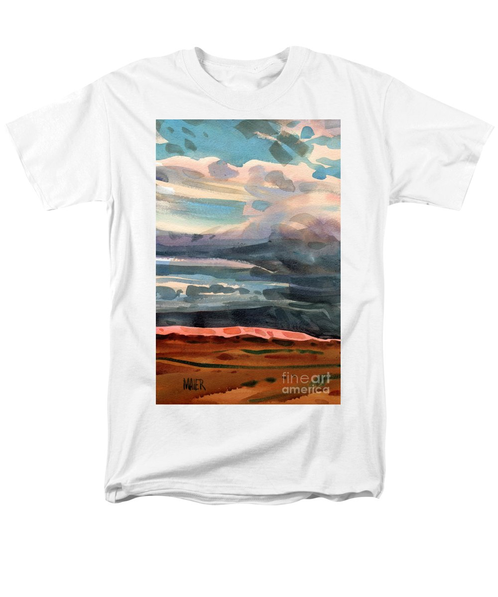 Western Landscape Men's T-Shirt (Regular Fit) featuring the painting Utah Skyline by Donald Maier