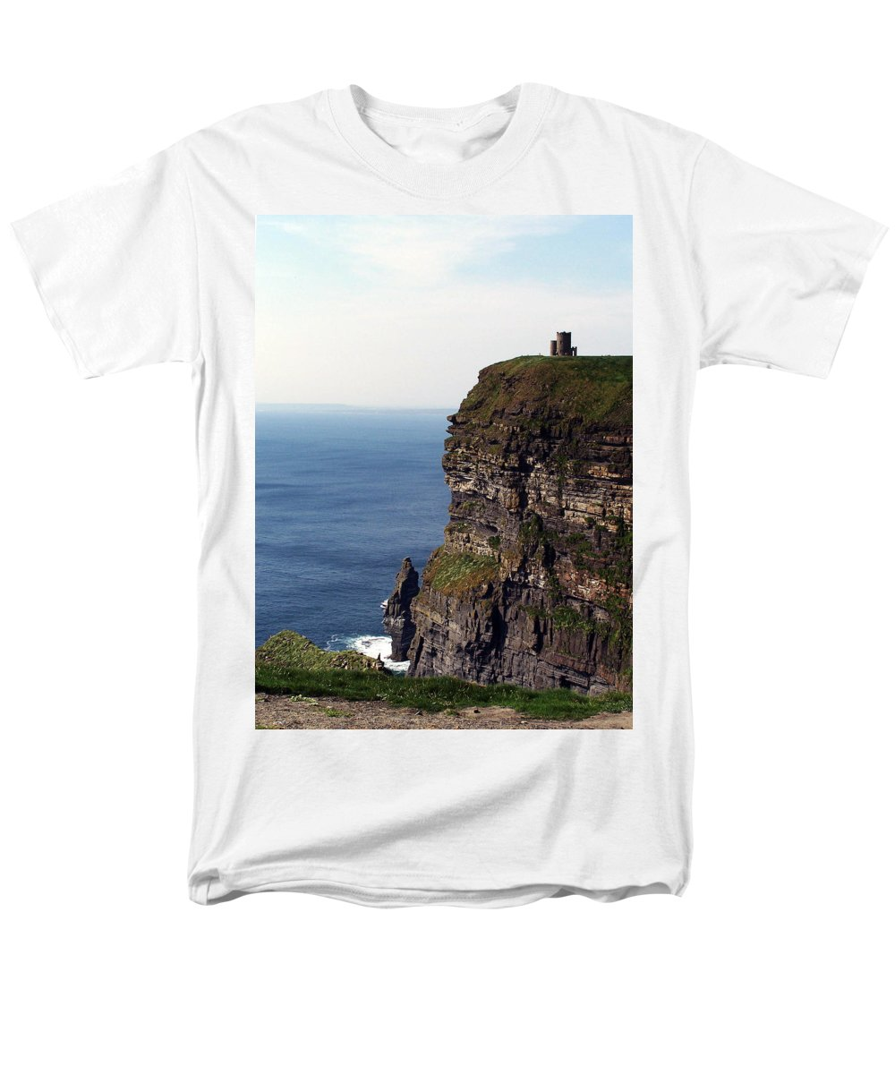 Irish Men's T-Shirt (Regular Fit) featuring the photograph View of Aran Islands and Cliffs of Moher County Clare Ireland by Teresa Mucha