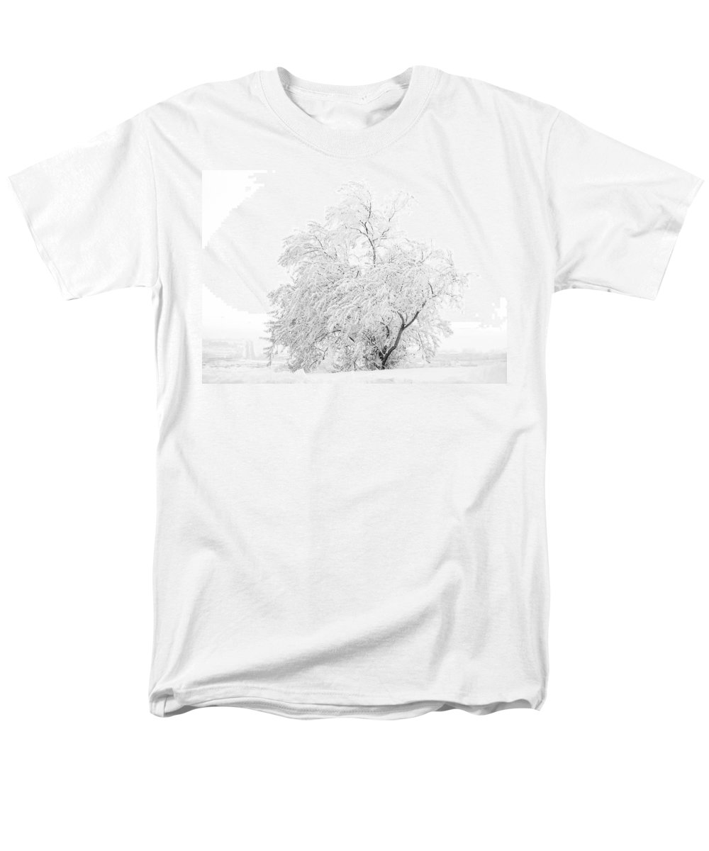 Snow Men's T-Shirt (Regular Fit) featuring the photograph White On White by Marilyn Hunt