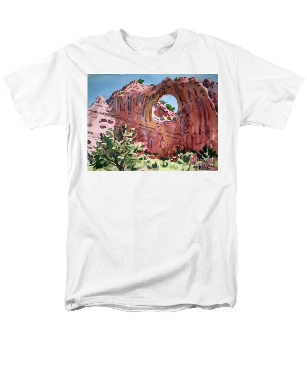 Navajo Tribal Park Men's T-Shirt (Regular Fit) featuring the painting Window Rock by Donald Maier