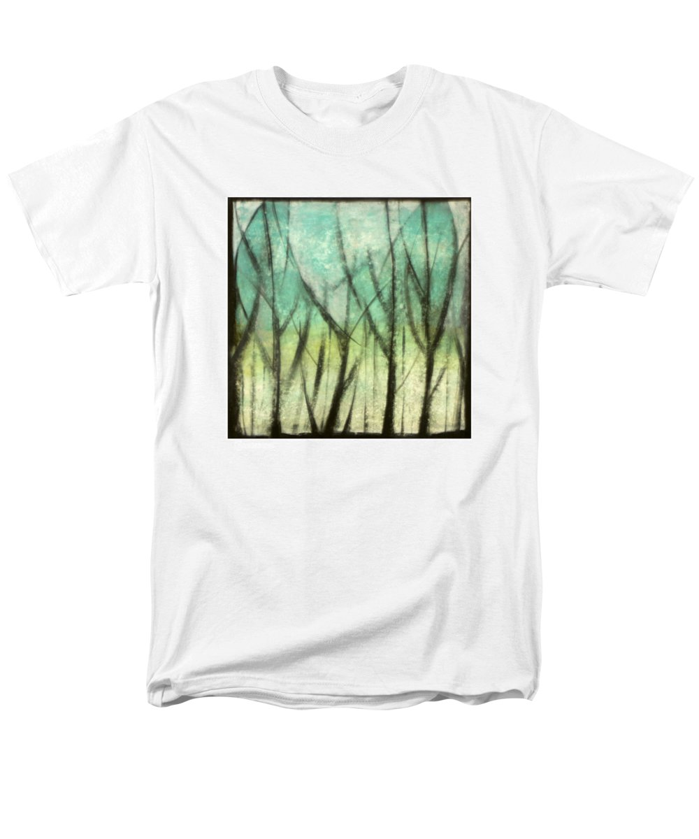 Trees Men's T-Shirt (Regular Fit) featuring the painting Winter Into Spring by Tim Nyberg