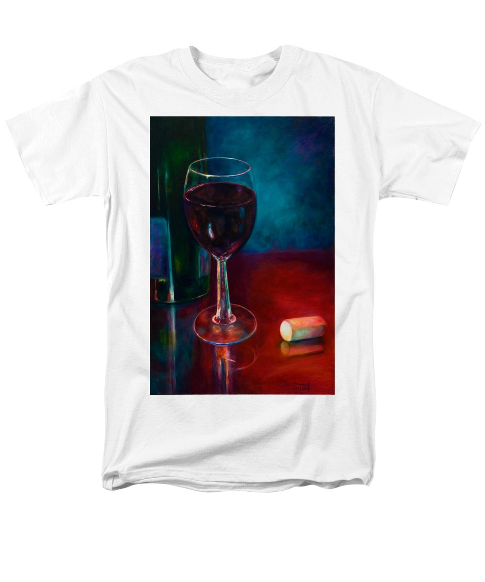 Wine Bottle Men's T-Shirt (Regular Fit) featuring the painting Zinfandel by Shannon Grissom