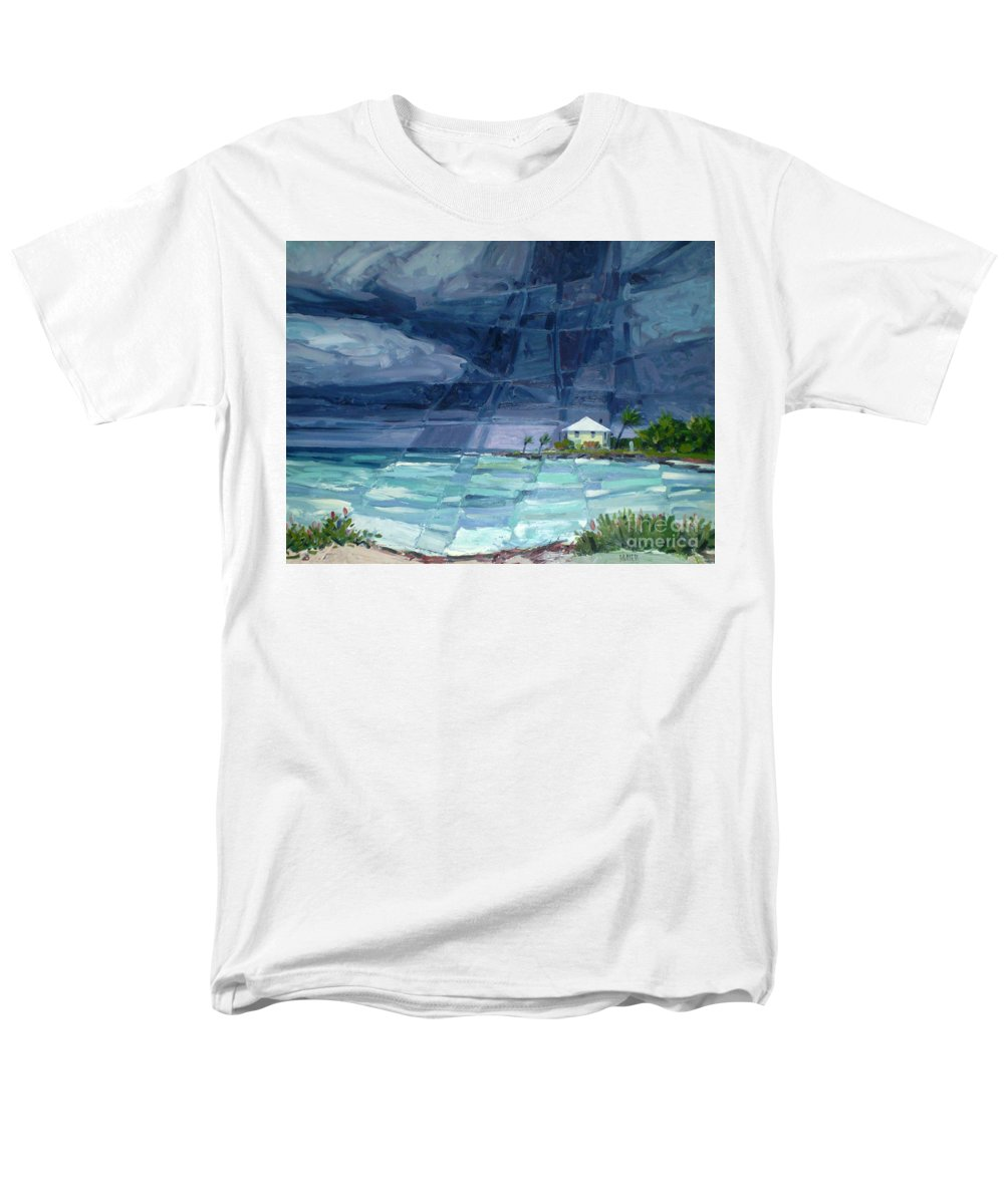 Key West Men's T-Shirt (Regular Fit) featuring the painting Thunderstorm Over Key West by Donald Maier