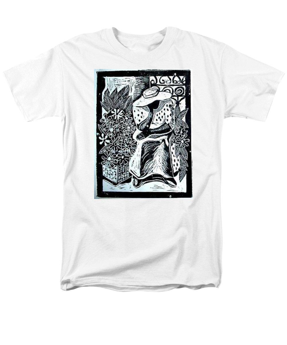 Everett Spruill Men's T-Shirt (Regular Fit) featuring the painting Flower Vendor by Everett Spruill