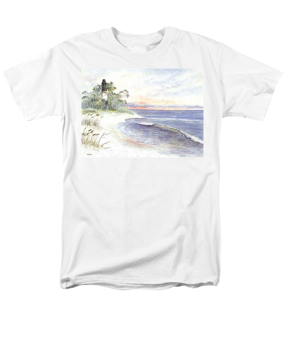 Lighthouse Men's T-Shirt (Regular Fit) featuring the painting Solitude by Ben Kiger
