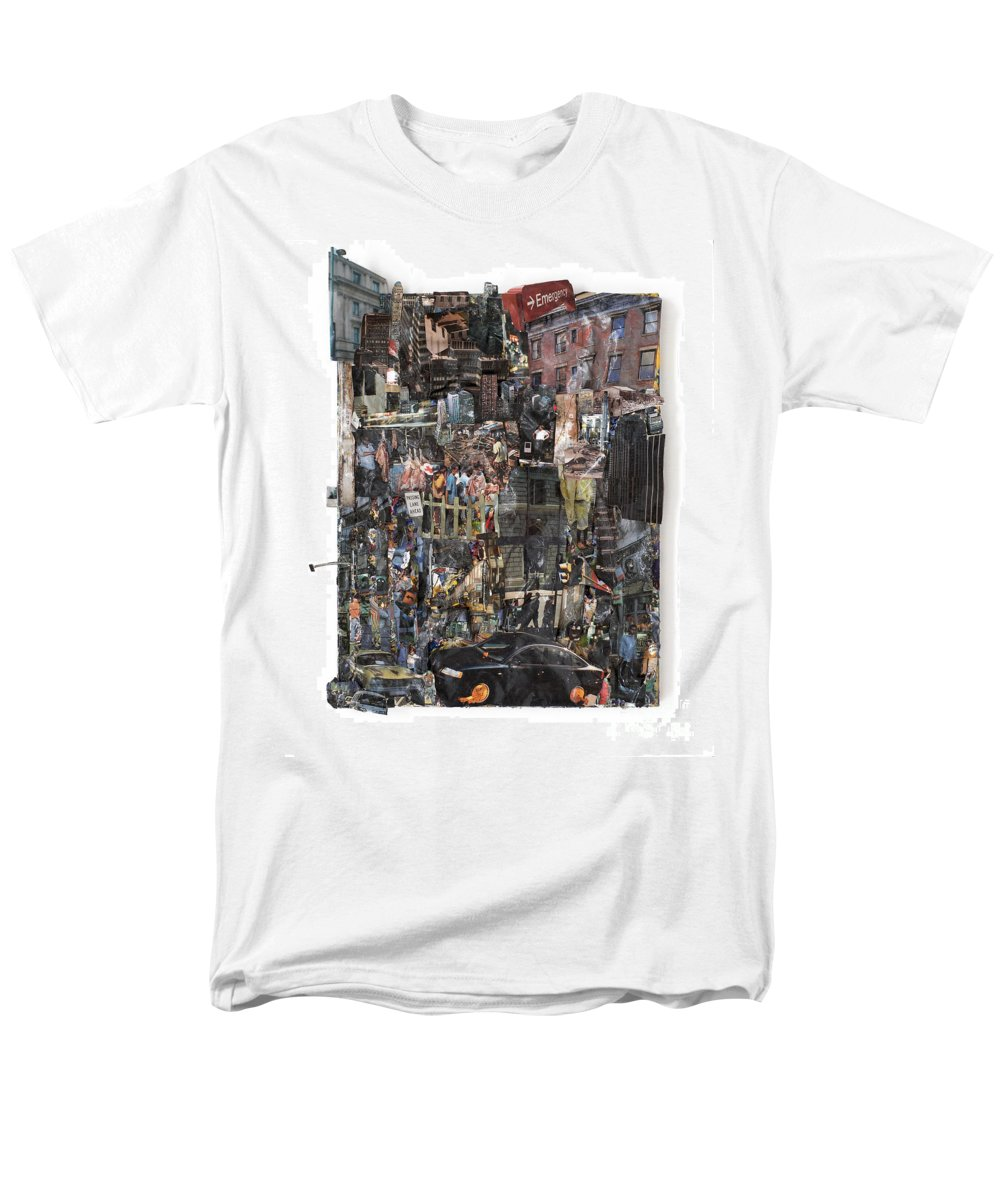 City Men's T-Shirt (Regular Fit) featuring the mixed media The City by Jaime Becker