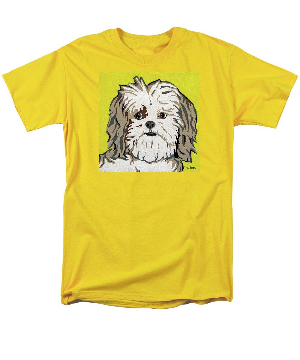 Shih Tzu Men's T-Shirt (Regular Fit) featuring the painting Shih tzu by Slade Roberts