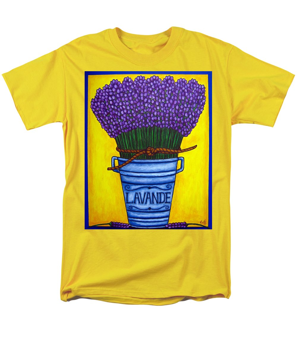 Antique Men's T-Shirt (Regular Fit) featuring the painting Colours Of Provence by Lisa Lorenz