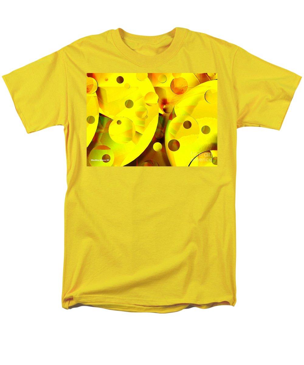 Suns Men's T-Shirt (Regular Fit) featuring the digital art Many Suns by Shelley Jones