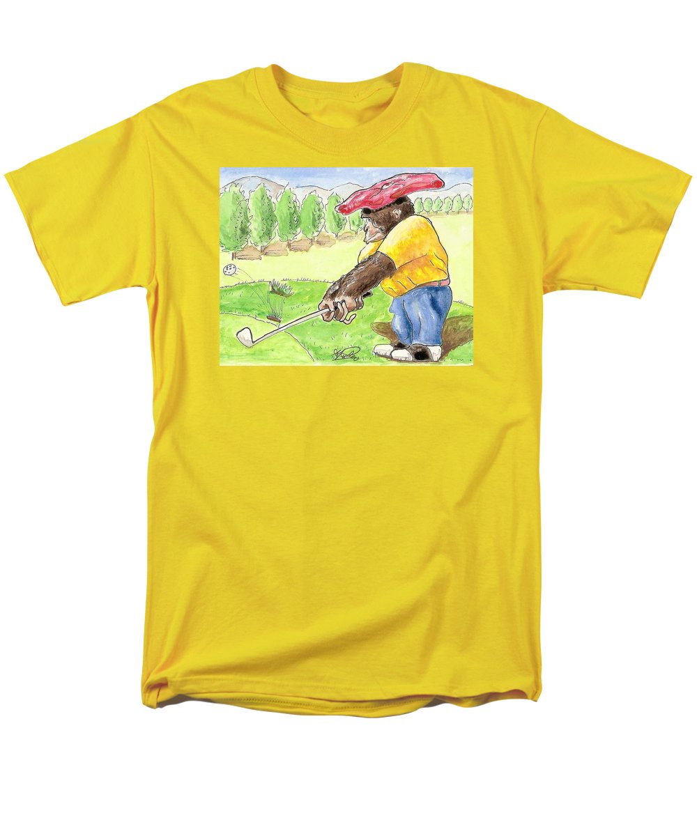 Golf Men's T-Shirt (Regular Fit) featuring the painting Oops by George I Perez