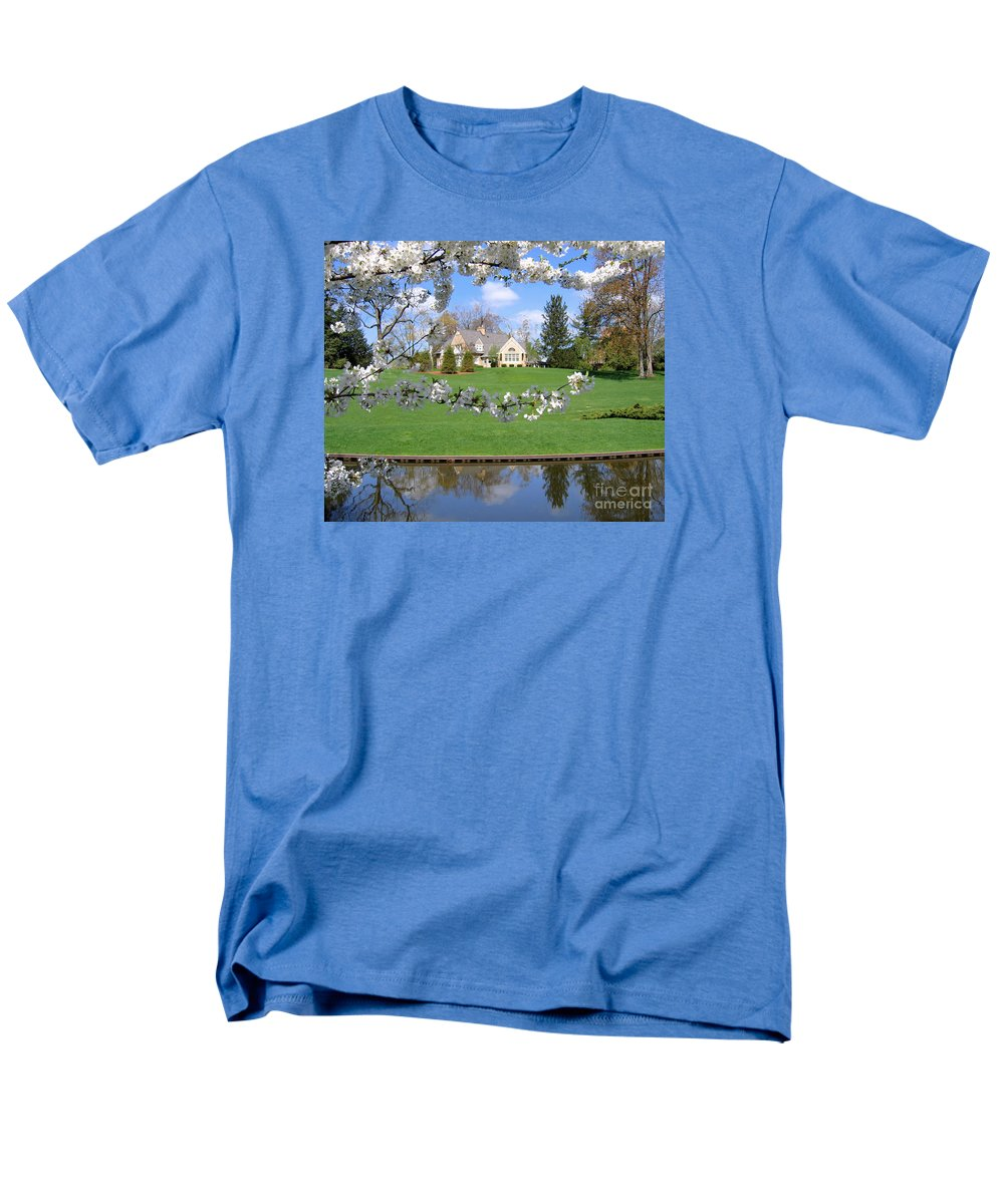 Spring Men's T-Shirt (Regular Fit) featuring the photograph Blossom-Framed House by Ann Horn