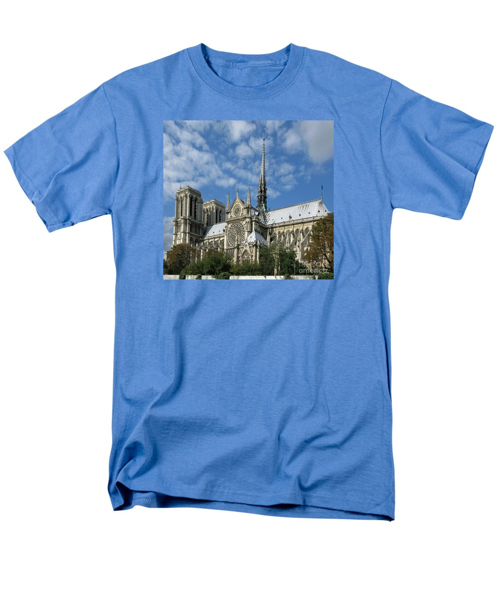 Notre Dame Men's T-Shirt (Regular Fit) featuring the photograph Notre Dame Cathedral by Ann Horn