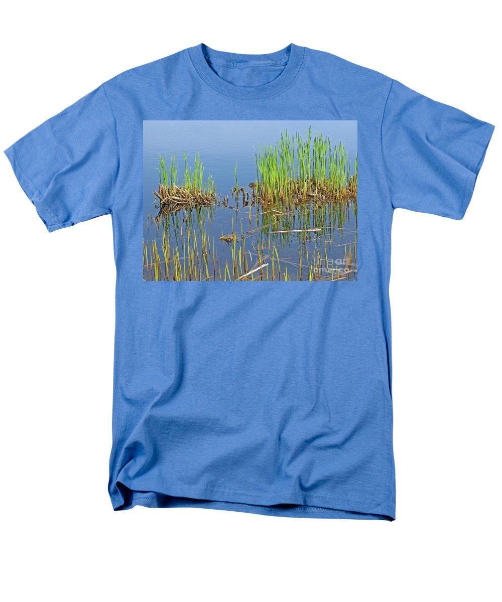Spring Men's T-Shirt (Regular Fit) featuring the photograph A Greening Marshland by Ann Horn